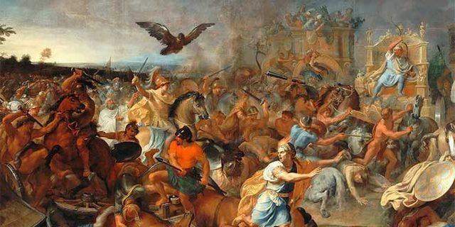 La batalla de Gaugamela
