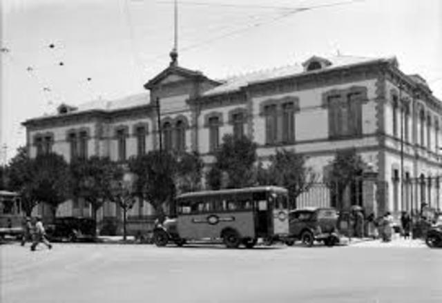 Inauguración del hospital Central de México