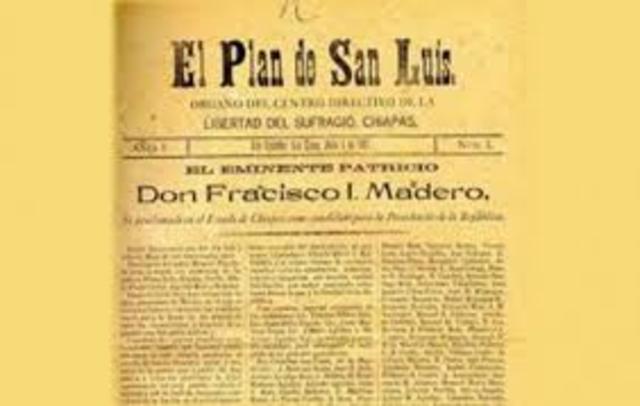 Firma del plan de san Luis