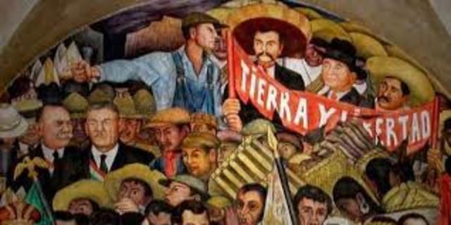 Inicio de la Revolución (levantamiento en armas contra Díaz)