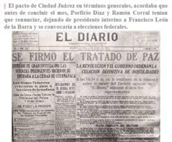 Se firman los tratados de ciudad Juárez