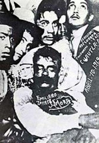 Emiliano zapata es acribillado por Jesús Guajardo