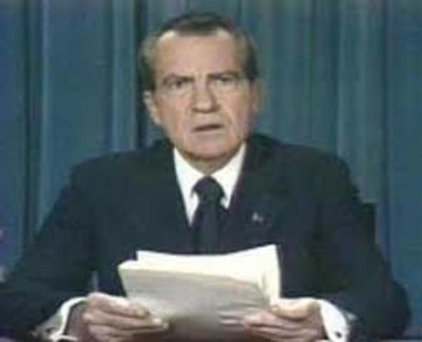 President Nixon's Resignation
