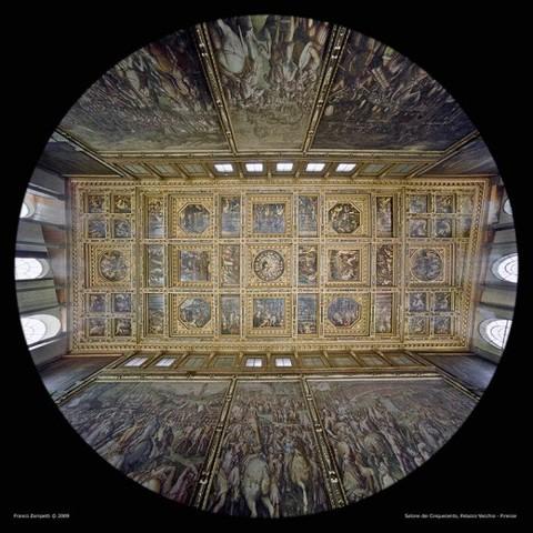 Vasari realizza il Soffitto del SALONE DEI 500