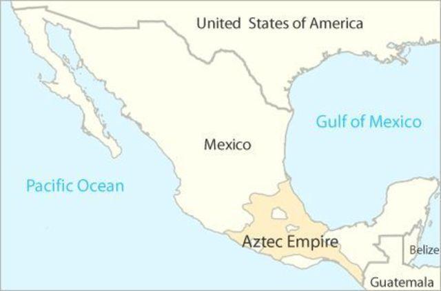 Aztekerriket går under