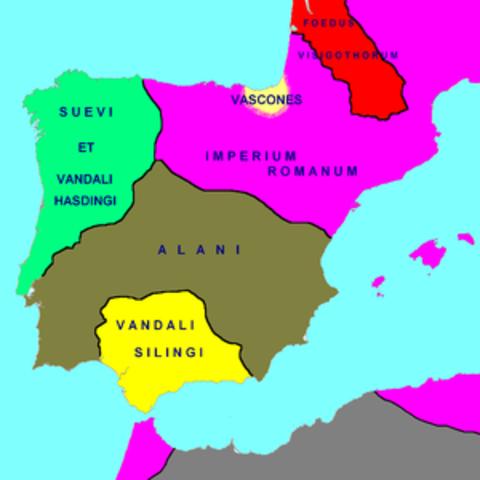 Sueus, vàndals i alans a Hispània