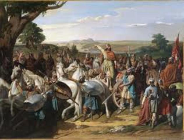 Arribada dels musulmans a la península Ibèrica.
