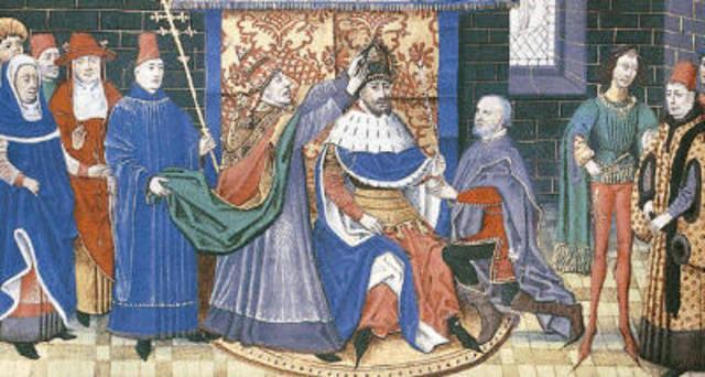 Carlemany és coronat emperador.