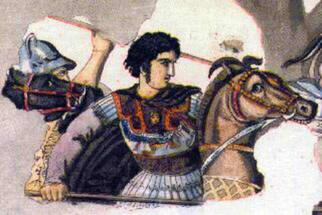 Alejandro Magno se combinarte en rey de Grecia