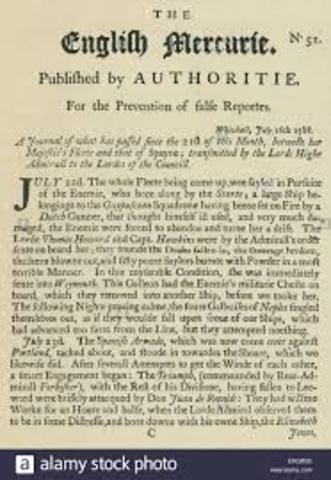 Primer periódico inglés