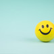 Smiley face ball on background sweet retro vintage color 1421 379