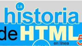 La historia de HTML timeline