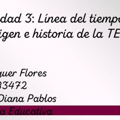Actividad 3: Línea del tiempo de origen e historia de la TE timeline