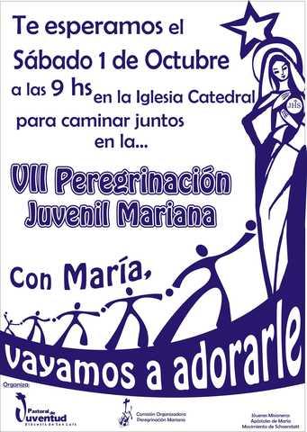 VII PEREGRINACIÓN JUVENIL MARIANA