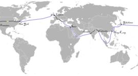 Acontecimientos que hicieron posible La vuelta al mundo en 80 días timeline