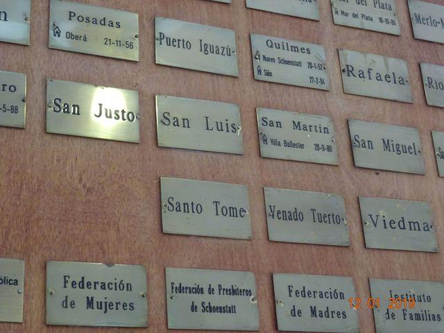 COLOCACION DE LA DIÓCESIS EN EL CUADRO DEL SANTUARIO NACIONAL