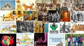 PASO A PASO E HISTORIA DE LA INFANCIA Y ADOLESCENCIA timeline