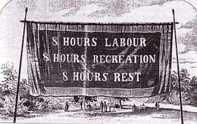 (1886) Se establecen las horas de trabajo