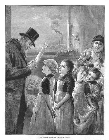 (1867) Ley que nombraba a los inspectores en las fábricas.