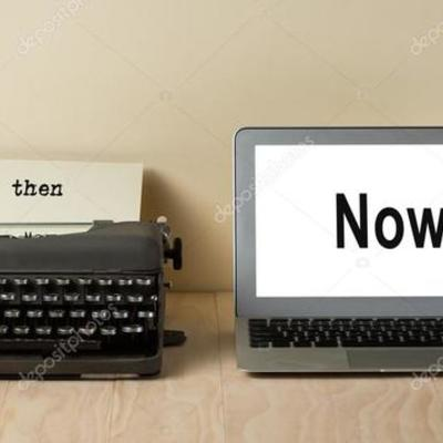 Evolución de la Máquina de escribir a Computadora timeline