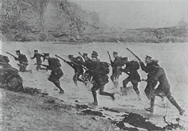 The landing of WWI
