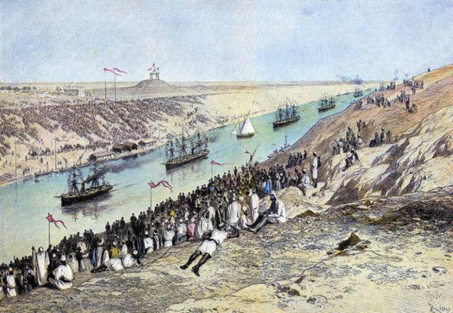 APERTURA DEL CANAL DE SUEZ: