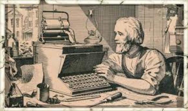 Máquina de escribir Christopher Sholes