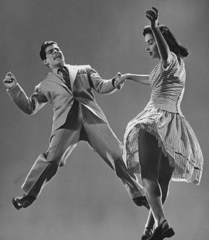 The Second World War brought fast, frantic (and often American) dance music - boogie-woogie or jitterbug.