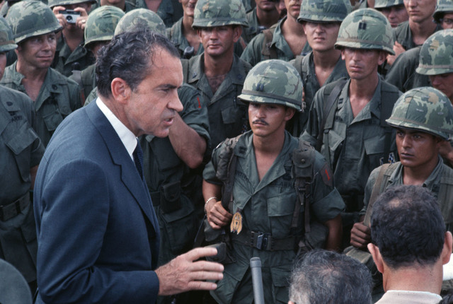 Nixon begins to withdraw troops from Vietnam