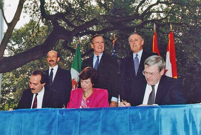Firma del Tratado de Libre Comercio de América del Norte