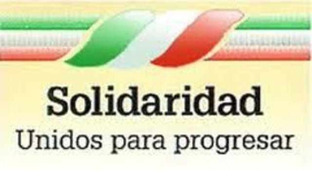 Programa Nacional Solidaridad y desigualdad.