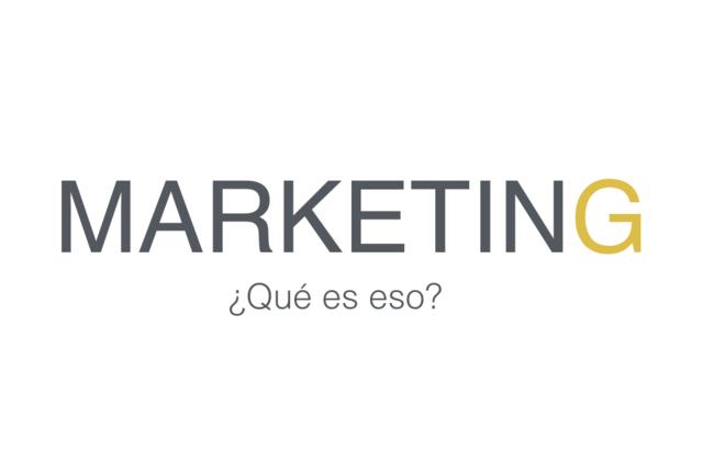 El termino Marketing