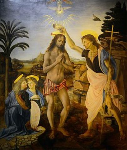 Painted The Baptism of Christ