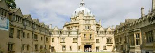 Admitted into Brasenose College