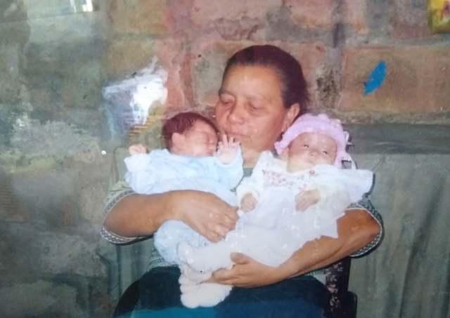 Mi primer foto con mi abuela