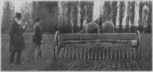 The first Combine Harvester