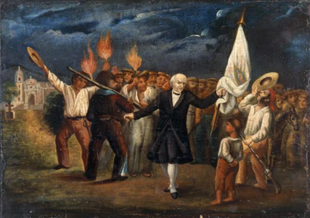 Levantamiento armado en Dolores dirigido por Miguel Hidalgo
