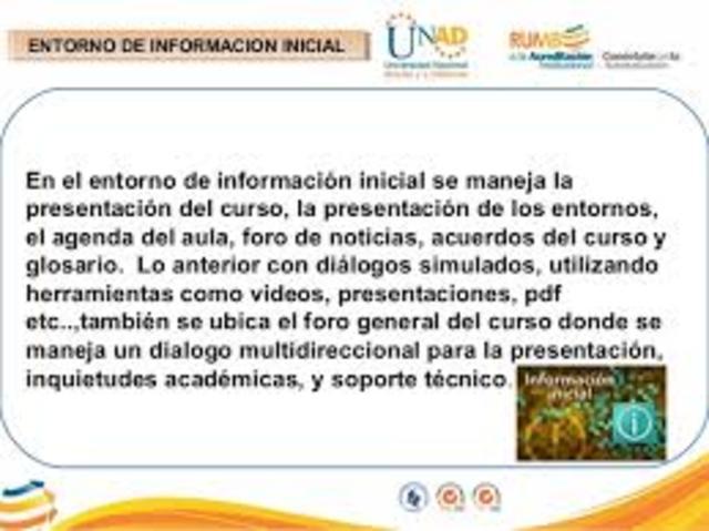 Entorno de informacion inicial