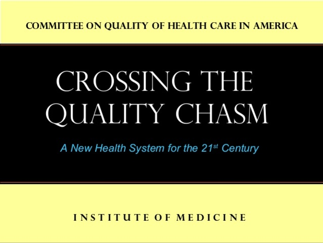 El informe del Institute of Medicine (IOM) Crossing the Quality Chasm: