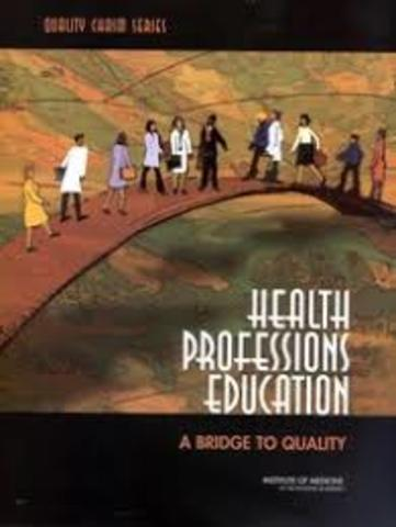 EL informe del IOM Health Professions Education: A Bridge to Quality