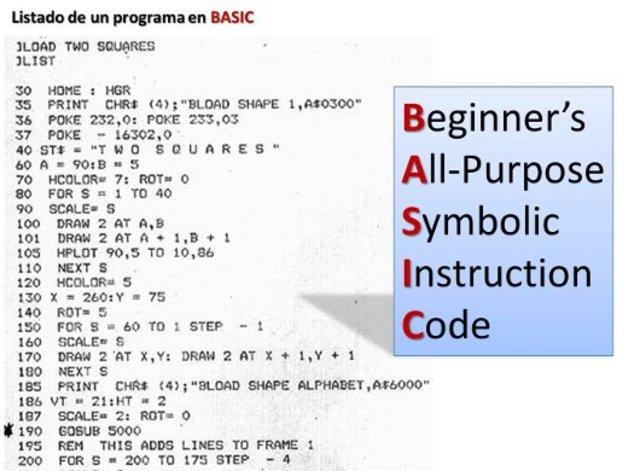 Lenguaje de programacion Basic