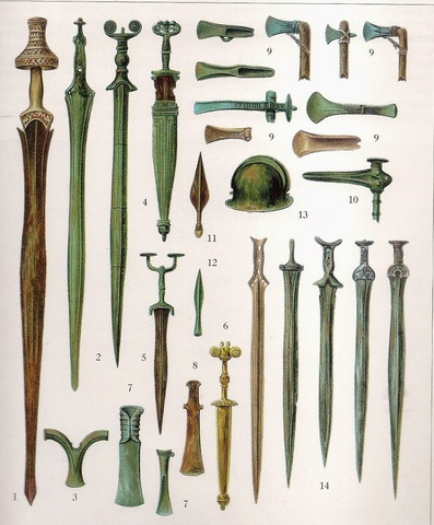 La ingenieria militar data desde los inicios de la humanidad, pero se han hecho hallazgos de armas de la edad de bronce