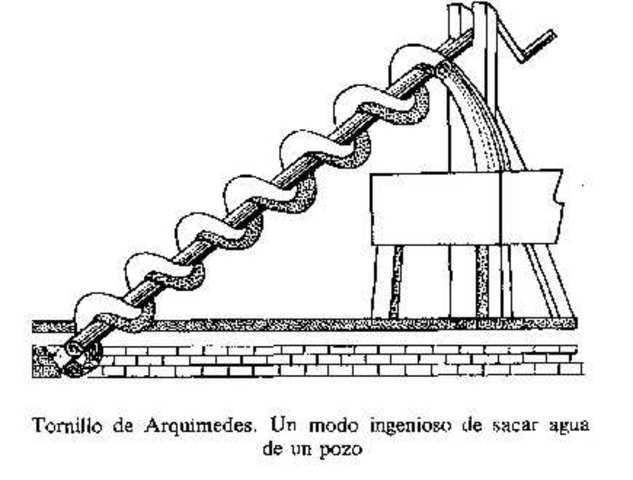 La ingeniería mecánica data de sus principios en Grecia con las obras de Arquimides