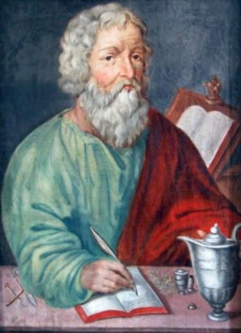 "Hipócrates escribe ""Hábeas Hippocraticum y de dieta"""