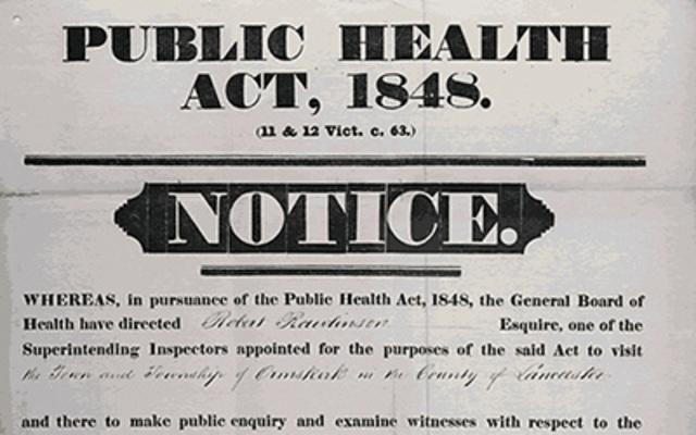1848 Legislación sanitaria