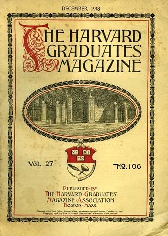 1918 Harvard título de licenciado en SHT
