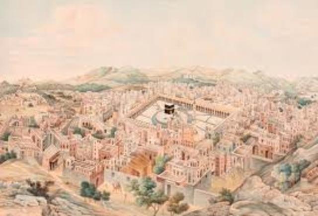 Muhammed erobrer Mekka