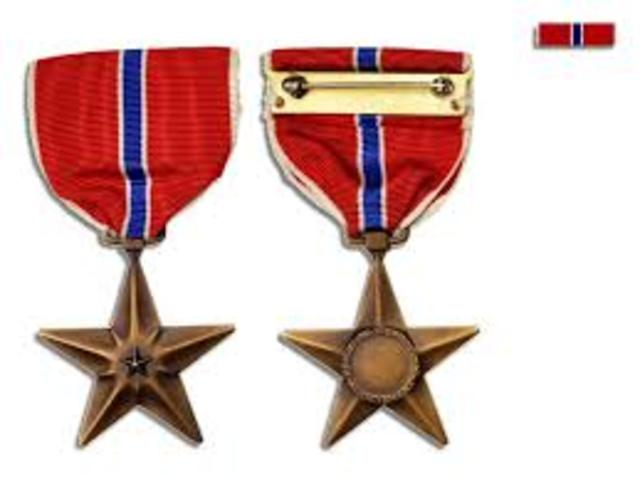 italian silver medal of valor and a bronze Star.