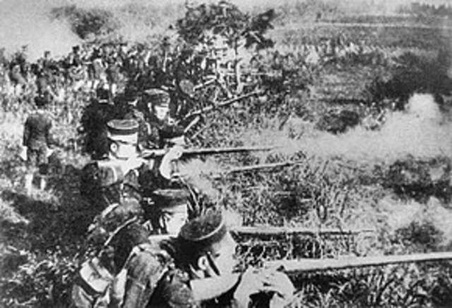 Start of the first sino Japanese war