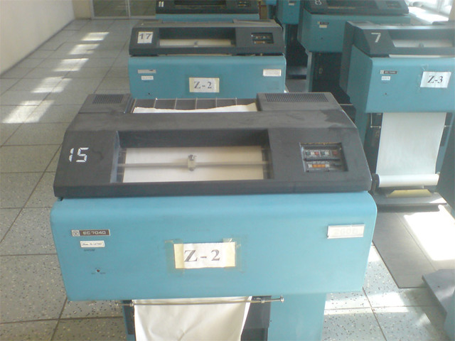 АЦПУ и первый принтер